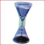 een duurzame zandloper van 24,5 cm met violet zand