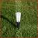 plaats de markeerpluim in de grond om het trekken van lijnen te vereenvoudigen