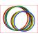 platte hoepels 40 cm geleverd in een set van 4 kleuren