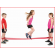 set van 2 springrekken met een lengte van 240 cm