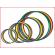 onze platte hoepels zijn verkrijgbaar in verschillende diameters