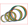 keuze uit platte hoepels met een diameter van 40, 50, 60 en 70 cm