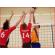 volleybalnetten wedstrijd met ingenaaide glasvezel stabiliseringsstaven