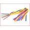 set van 6 gekleurde stokken met lange satijnen linten