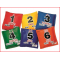pittenzakjes met cijfers geleverd in een set van 6 kleuren