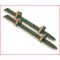 een paar houten loopski's 80 cm van Pedalo met sterke bindingen